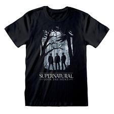Supernatural Join the Hunt Silhouette Official Black Men T-shirt