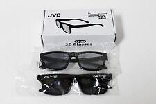 GENUINE JVC DQ1101AR1C0 PASSIVE 3D GLASSES - 2 PCS FOR JLE55SP4000B