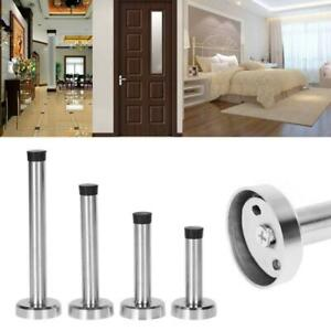 Door Stop Stopper Bumper Wall Mounted Protector Sound Dampening Stainless Steel