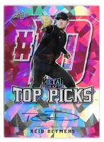 2020 Reid Detmers Leaf Metal Draft Rookie Auto Pink Crystals Top Picks 7/7