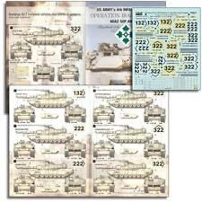 "Echelon FD T35017, 1/35 Decals for US ARMY M1A2 rendu dans ""Operation Iraqi Freedom"""
