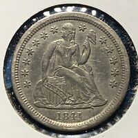 1841 10C Liberty Seated Dime (53718)