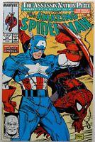 Amazing Spider-Man 323 9.0-9.2 High Grade Captain America McFarlane Art 1989