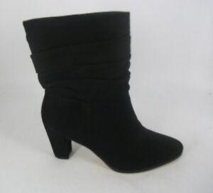 Debenhams Caroline Rouched Black Ankle Boots UK 6 EU 39 JS182 OO 01