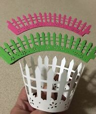 Cupcake Liner Wraps Standard Size Wrappers 12ct. Picket Fence - Pick Your Color
