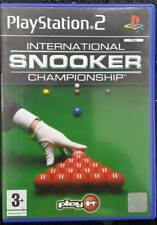 New listing International Snooker Championship game for Sony PlayStation 2 PS2 2004