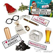 BAD SANTA CHRISTMAS PHOTO BOOTH PROPS -Novelty Xmas/Secret Santa- TALKING TABLES