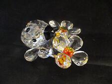 Swarovski Crystal Ladybug on Flower - No Box