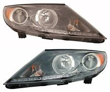 Driver+Passenger LED Headlight Pair for 2011 2012 KIA SPORTAGE Priority Shipping