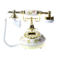 Antique Designer Phone nostalgia telescope vintage telephone made of cerami R5F4
