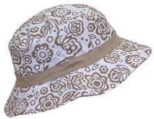 Women's Reversible Summer Floppy Bucket Hat W/Hawaiian Designs #1010 Tan