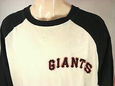 New York Giants Raglan vintage T-Shirt by Reebok Black/White Size Large L Rare