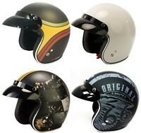 VIPER RS-05 SLIM SKINNY OPEN FACE SCOOTER MOTORBIKE MOTORCYCLE MOD RETRO HELMET
