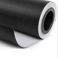 "Carbon Fiber Vinyl Car Auto DIY 3D Wrap Sheet Roll Film Sticker Decal 12""x50"""