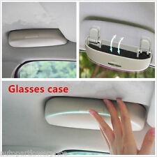 Universal Car Auto Sunglasses Grey Glasses Case Front Storage Box Clip Holder ×1