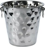 5 Litre Champagne Bucket Stainless Steel Large Ice Bucket Wine Hammered