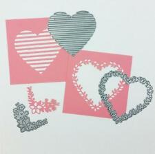 Love Metal Cutting Dies Heart Flower Scrapbooking Making Die Crafts Embossing