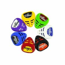 6Pcs Triangle Guitar Pick Holder Guitar Pick Plectrum Holder Case Box Pick Clip