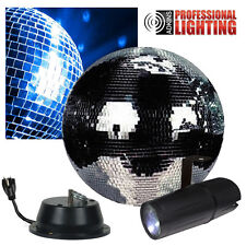 "12"" Disco Mirror Ball Complete Party Kit with LED Pinspot and Motor - Adkins"