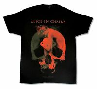 Alice In Chains Fetal Canada Tour 2014 BC-NS Black T Shirt New Official Hollow