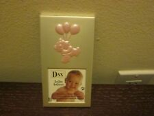 "Dax Baby Girl's Teddy Bear With Balloons Frame Pink 2"" x 2"" New"