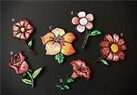 Flower Rose Embroidered Iron On Sew On Patches Badges Transfers Fancy Dress