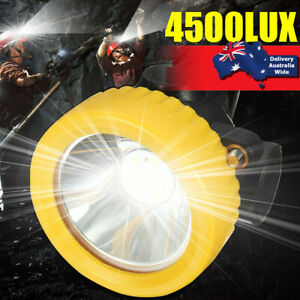 4500LUX Cordless Miners LED Head Helmet Light Safety Cap Lamp Torch Waterproof