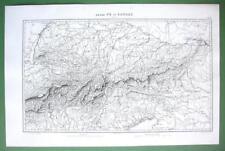 "1846 ORIGINAL MAP - N. ITALY Austria Switzerland Rivers Po & Danube 10 x 15"""
