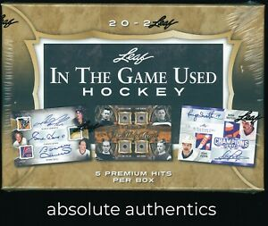 2020-21 Leaf In The Game Used Hockey Factory Sealed Hobby Box
