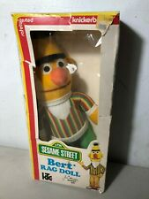 Vintage Bert Rag Doll Sesame Street Knickerbocker 1976 With Rare Original Box!!!