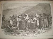 La Crimée GUERRE ZOUAVES Making Gabions près de Sébastopol 1855 OLD PRINT