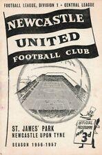 More details for scarce football programme newcastle united v chelsea 1956-1957
