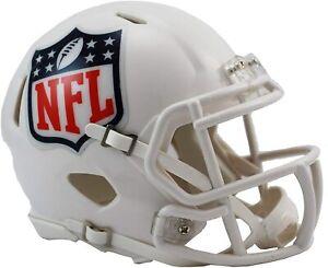 NFL Football Helmet League Sign Shield White Mini Speed Footballhelm Helmet