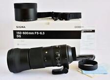 """Sigma 150-600mm F5-6.3 DG HSM OS """"C"""" LENTE NIKON FIT-Quasi Nuovo"""