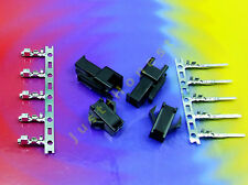 Stk.2x BUCHSE / STECKER 2 polig/way Male+Female Connector 5x CRIMPKONTAKTE #A543