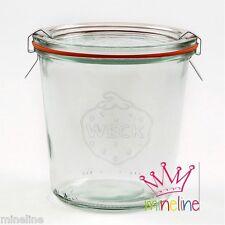 6x Weck Glas  1/2l Sturz Form mit Glasdeckel 580ml Nr.742