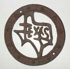 Rustic Western N Stars Cast Iron TEXAS Disc