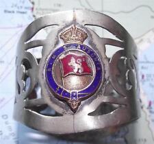 Old c1920's rms Ausonia CUNARD WHITE STAR LINE percés serviette anneau émail Crest