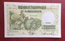 Belgique - Superbe  Billet de 50  Francs / 10 Belgas du 27-01-1945