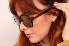 Large 70s vintage faux tortoiseshell square sunglasses Made in France