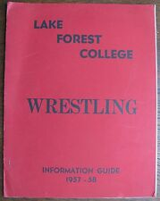 1957-1958 Lake Forest College Wrestling Guide (Illinois)