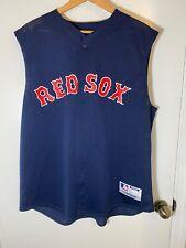 Boston Red Sox Blue Majestic Sleeveless jersey men's size extra large VTG USA