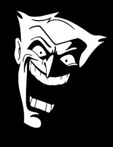 Joker Batman Animated Series Decal PS5 XBOX Yeti  Laptop Cup Mug Wall Window