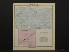 Michigan, Branch County Map, 1872, Gilead Township,  Y3#34