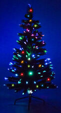 7' Ft Fiber Optic Green Artificial Holiday Christmas Tree w/ Multi-LED Lights