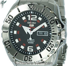 New Seiko Baby Monster Auto Black Dial With Stainless Steel Bracelet SRPB33K1