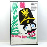 Joffrey Ballet Of Chicago Nutcracker Art Poster Vintage Signed By Cast 1990s #1