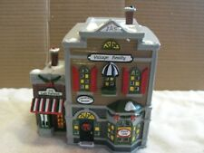 Department 56 Snow Village Realty & Cafe Italiano Christmas Building EUC