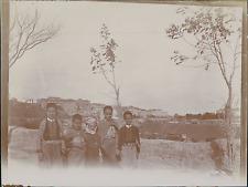 Algérie, Constantine, Vue sur la Ville, Enfants Habits Traditionnels   Vintage s