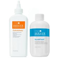 CND Service Essentials CuticleAway 6 oz and ScrubFresh Cleanser 7.5 oz
